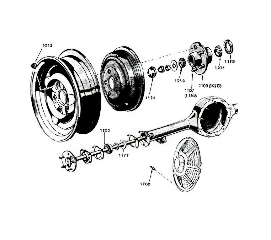 download 1964 Mustang Rear Wheel Bearing Race 6 Cylinder workshop manual