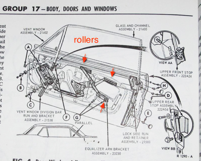 download Angled Door Glass Bumper Inside Door Glass Ford Passenger workshop manual