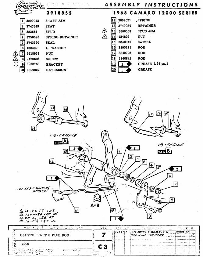 download Clutch Return Spring Extension Bracket Big Block workshop manual