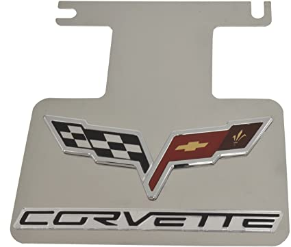 download Corvette Exhaust Enhancer Plate Stainless Steel With Black Background Crossed Flags Logo Corvette Word workshop manual