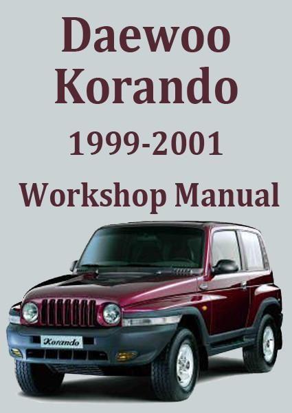 download DAEWOO KORandO CAR workshop manual