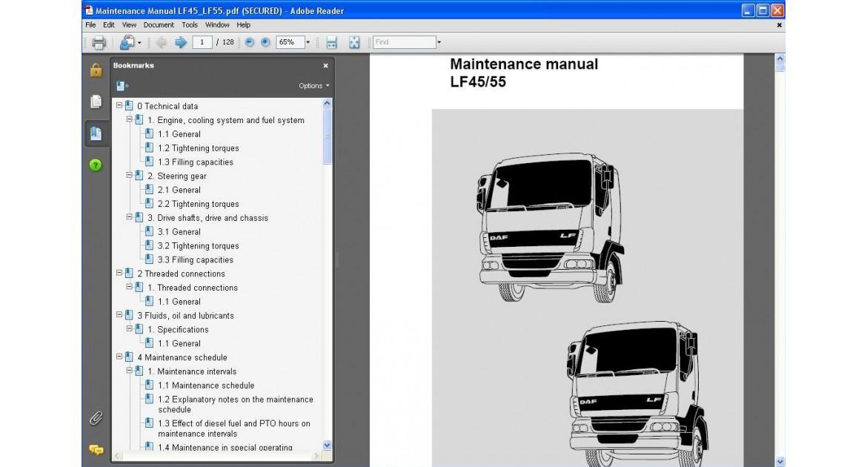 download DAF LF45 LF55 Truck workshop manual