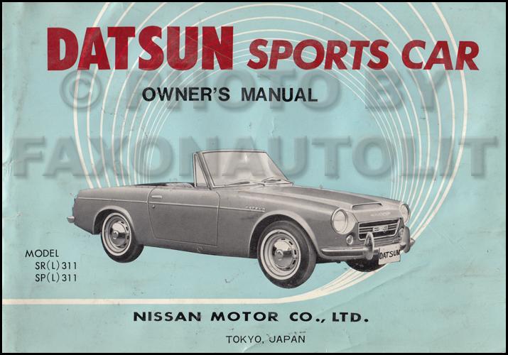download DATSUN ROADSTER 1600 workshop manual