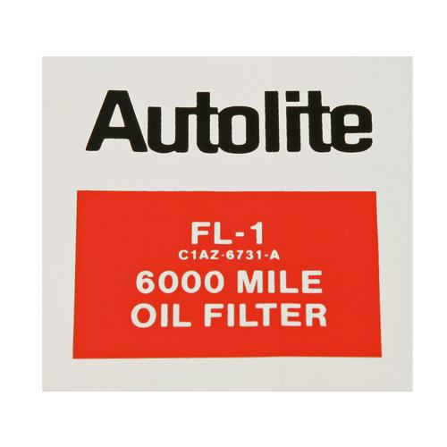 download Decal Oil Filter Autolite FL 1 workshop manual