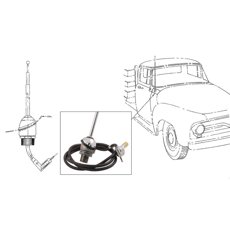 download Fairlane 68 Ford Mercury Including Galaxie Radio Antenna Assembly workshop manual