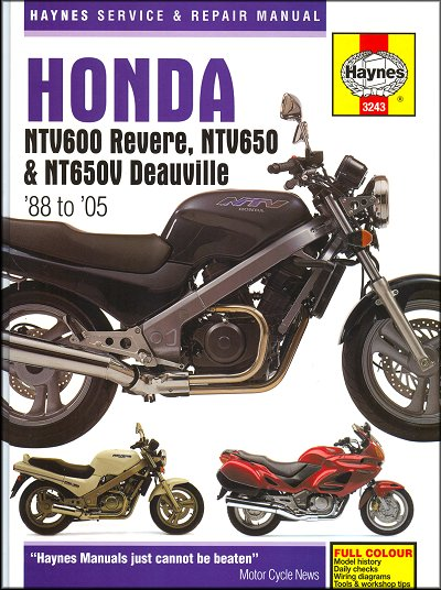 Honda Ntv600 Revere Ntv650 And Nt650v Deauville 1988  U2013 2005haynes Owners Service And Repair