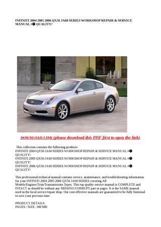 download INFINITY Q56 JA60 Manuals workshop manual