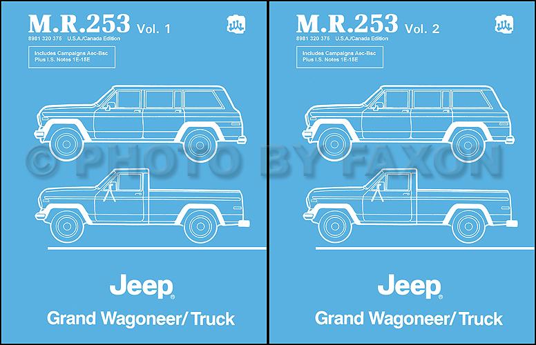 download JEEP J10 Truck workshop manual