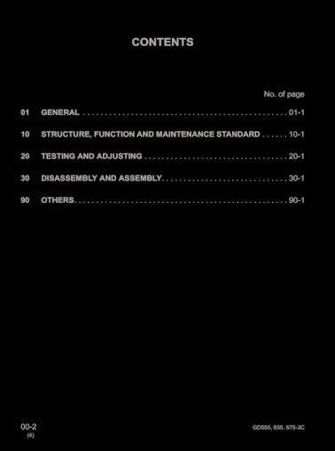 download Komatsu GD555 3C GD655 3C GD675 3C Grader able workshop manual