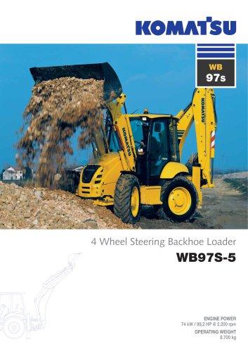 download Komatsu WB97S 5 Backhoe Loader able workshop manual