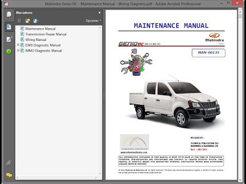 download Mahindra Genio DC workshop manual