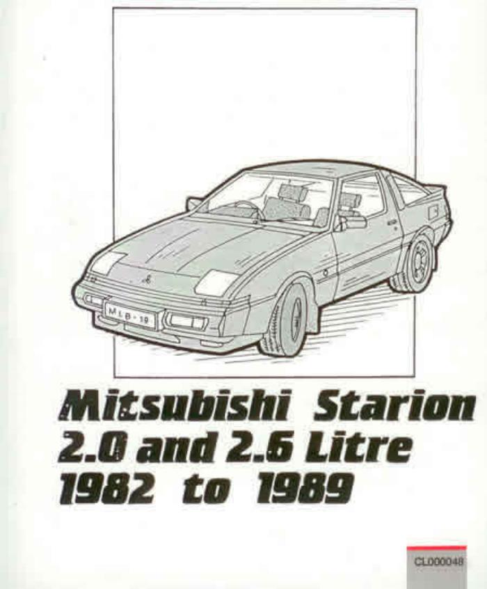 download Mitsubishi Colt Starion workshop manual