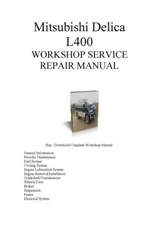 download Mitsubishi Delica L400 able workshop manual