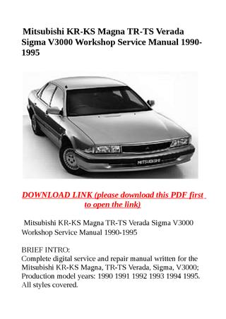 download Mitsubishi V3000 workshop manual