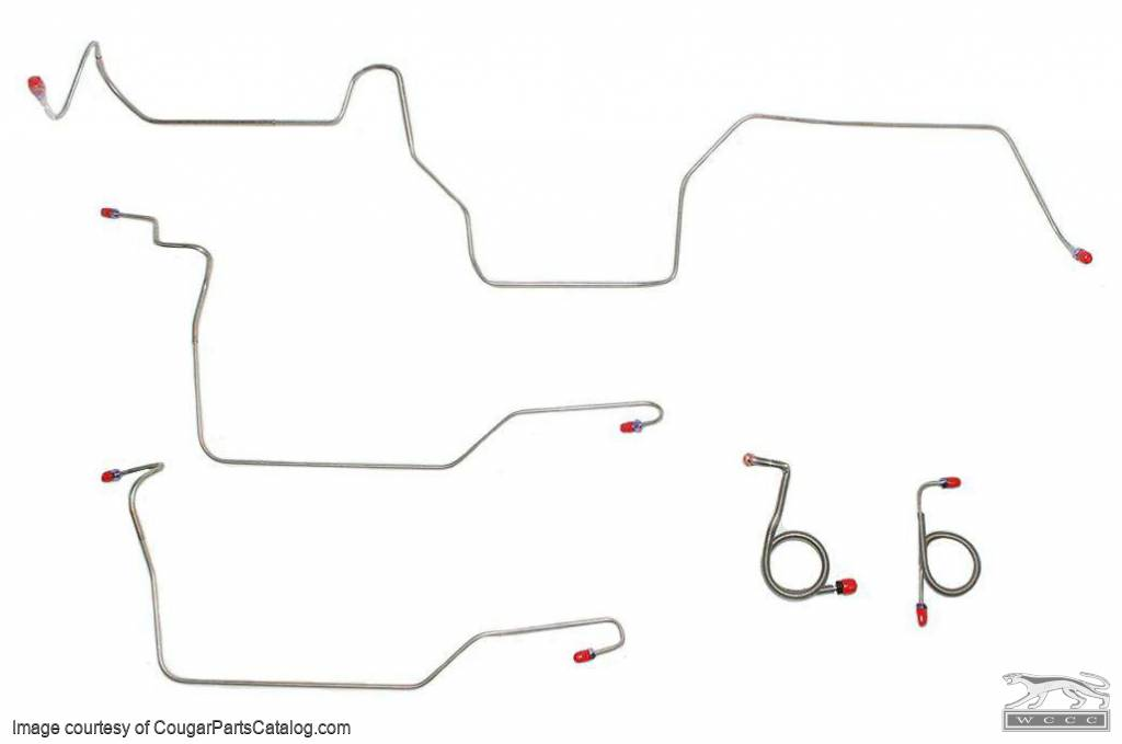 download Mustang Stainless Steel Front to Rear Drum Brake Line 1 Piece workshop manual