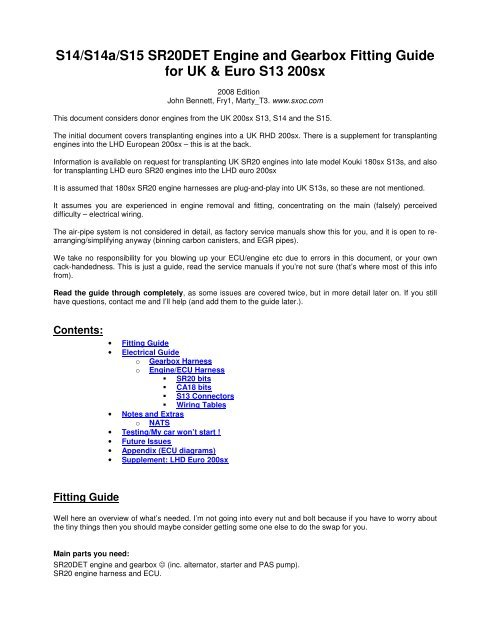 download Nissan 200SX S14 inc S14a Manuals workshop manual