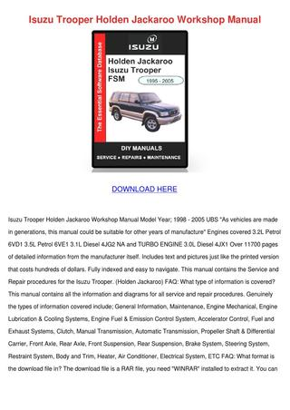 download OPEL BEDFORD Midi HOLDEN SHUTTLE 1 8L 2L workshop manual