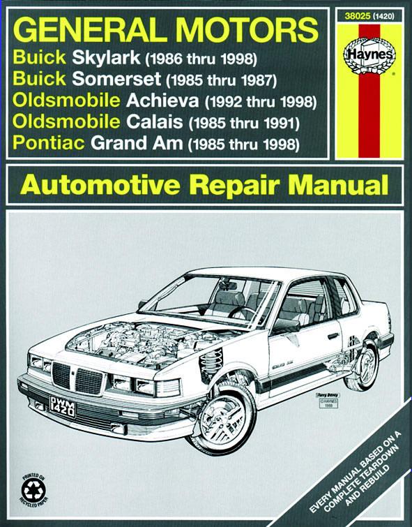 download Oldsmobile Achieva workshop manual