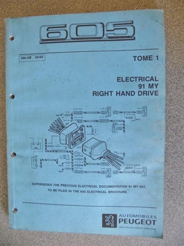 download PEUGEOT 605 workshop manual