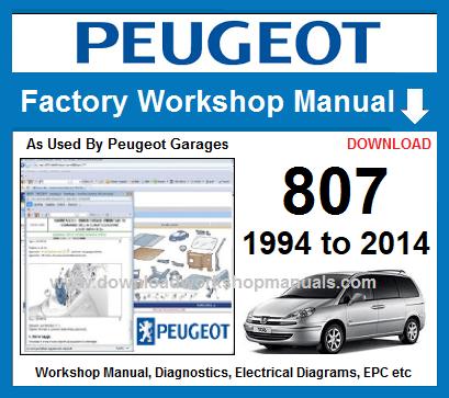 download PEUGEOT 807 workshop manual