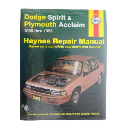 download PLYMOUTH ACCLAIM workshop manual