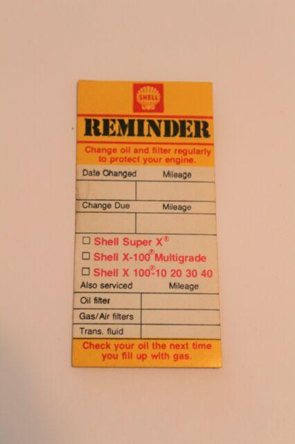 download Pennzoil Door Jamb Mileage Tag workshop manual