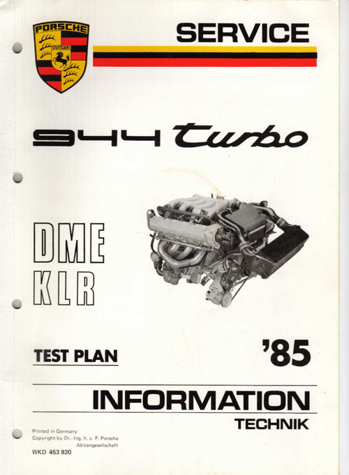 download Porsche 944 DME Test Plan able workshop manual