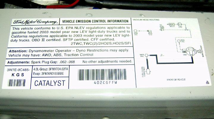 download Ranger Catalytic Converter Federal Emissions V6 3.0L 4.0L workshop manual