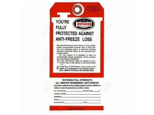 download Rotunda Antifreeze Tag workshop manual