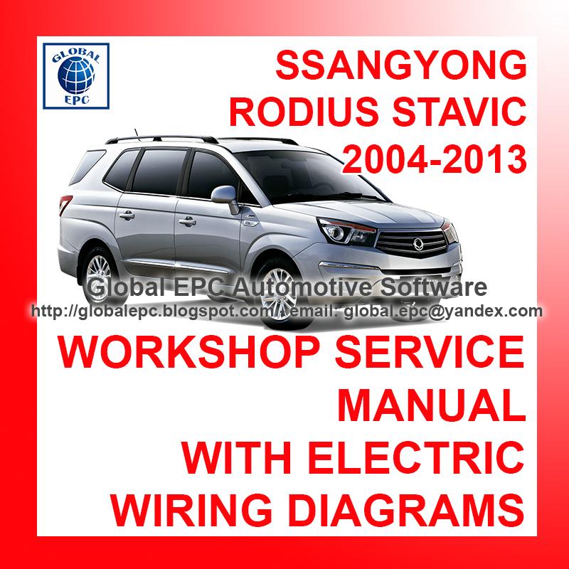download SsangYong Rodius Stavic workshop manual