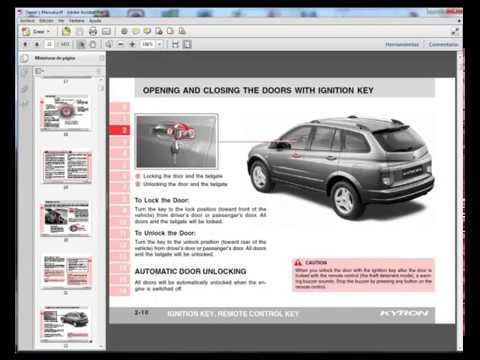 download Ssang Yong Korando Actyon workshop manual