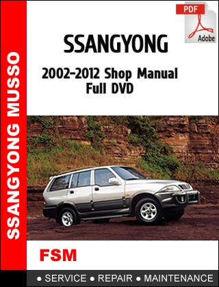 download SsangYong Actyon Sports Q145 workshop manual