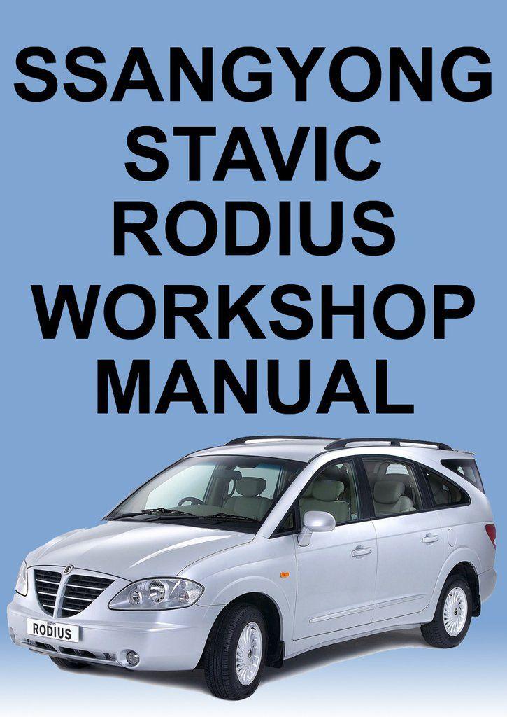 download SsangYong Rodius workshop manual