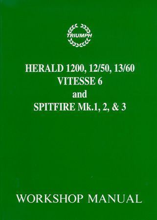 download TRIUMPH HERALD 1200 1250 VITESSE SPITFIRE workshop manual
