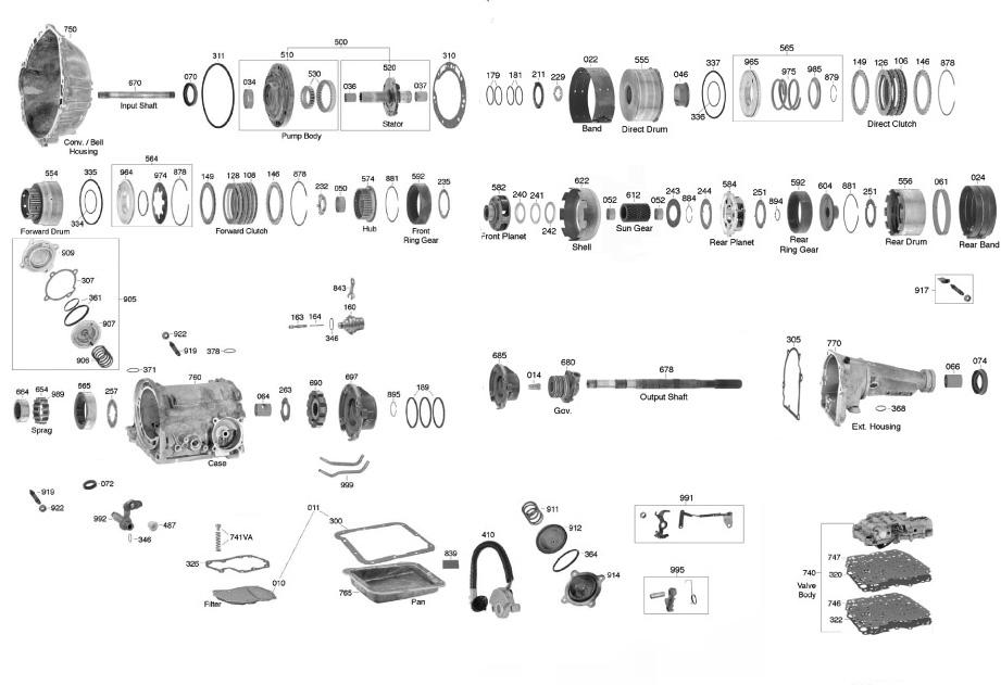 download Transmission Screen Gasket C4 Transmission workshop manual