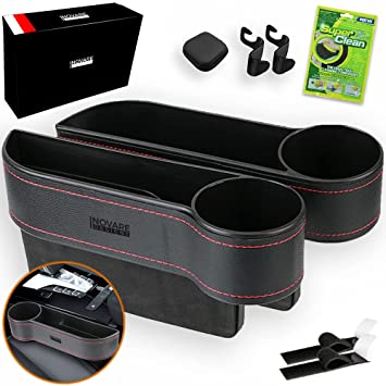 download Universal Seat Console Organizer with drink coin CD holders Black workshop manual