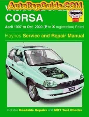 download VAUXHALL CORSA HOLDEN BARINA workshop manual